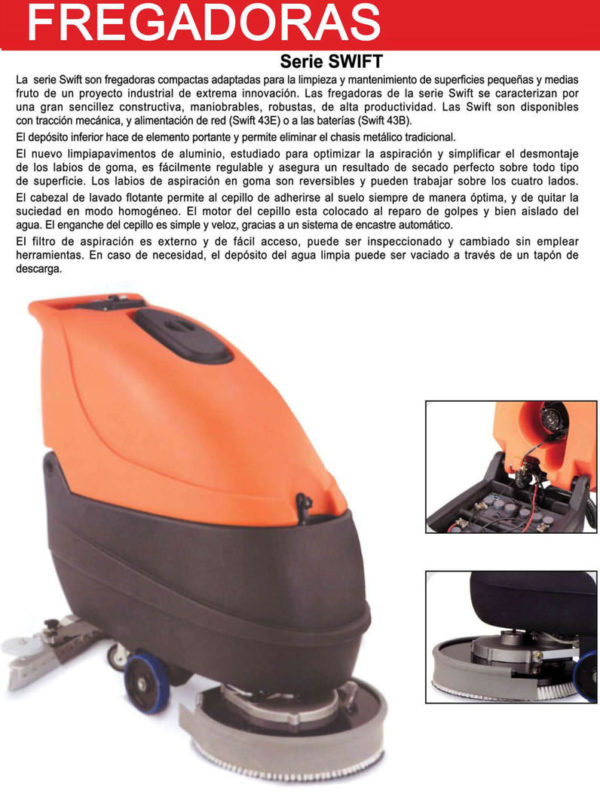 Barredora Fregadora Electrica - Alquiler de herramientas Majo
