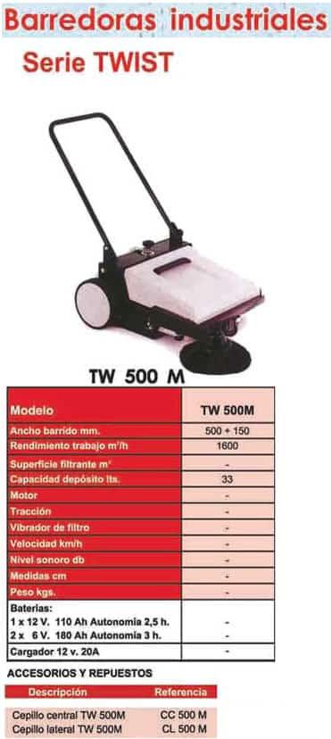 Barredoras Manual TW500M - Alquiler de herramientas en Madrid