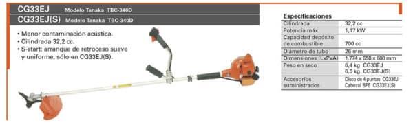 Alquiler de herramientas - Desbrozadora Gasolina