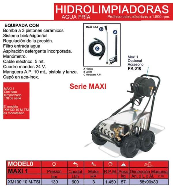 Hidrolimpiadora XM130 - Alquiler de herramientas