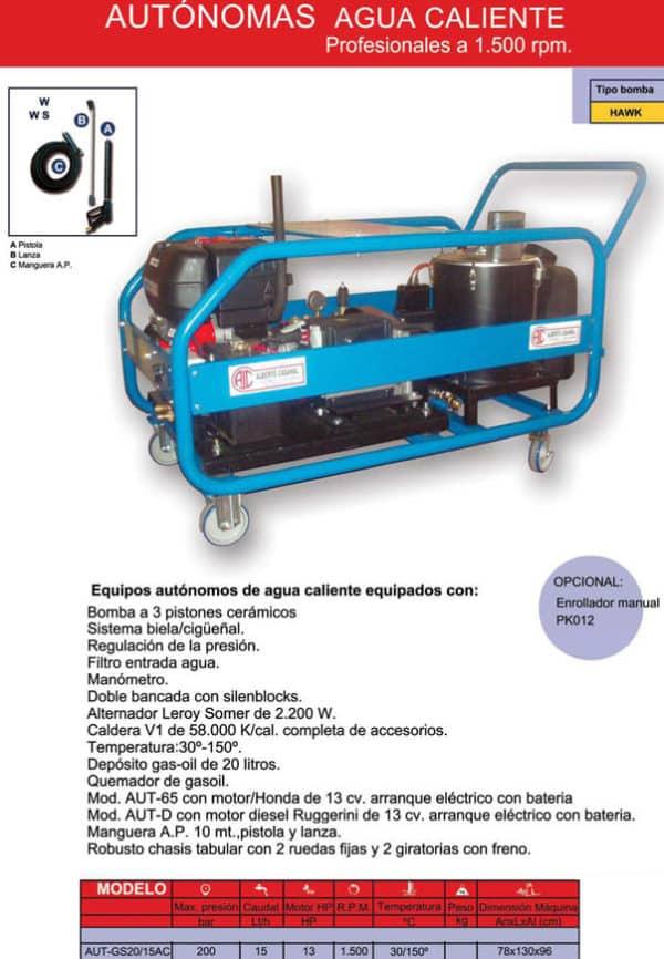 Hidrolimpiadora Gasolina Autonoma - alquileres majo