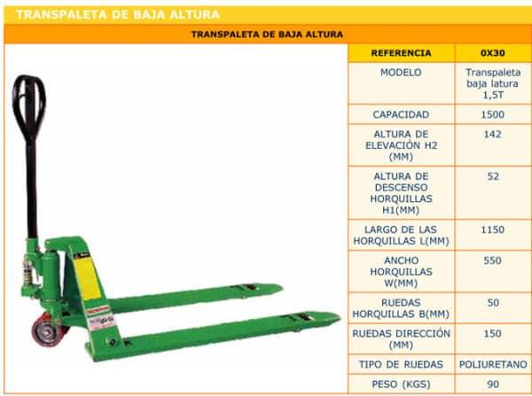 Traspaleta-Manual-Almacen - Alquiler de herramientas en Madrid