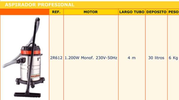 aspirador 1200W - Alquiler de herramientas