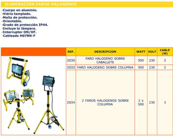 focos halogenos - Alquiler de herramientas
