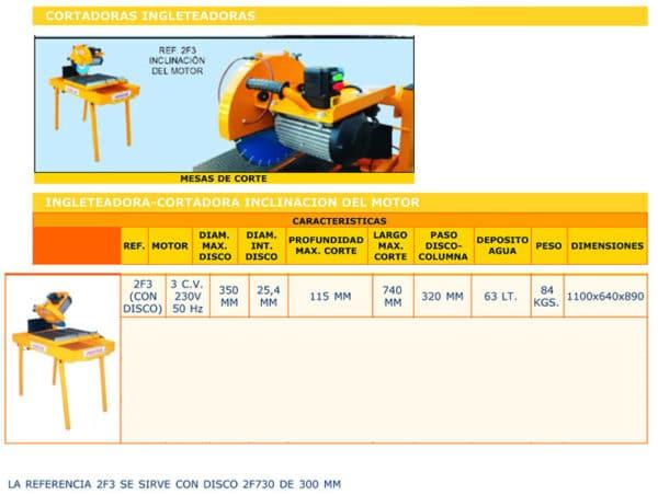 Mesa cortadora de agua - Alquiler de herramientasa