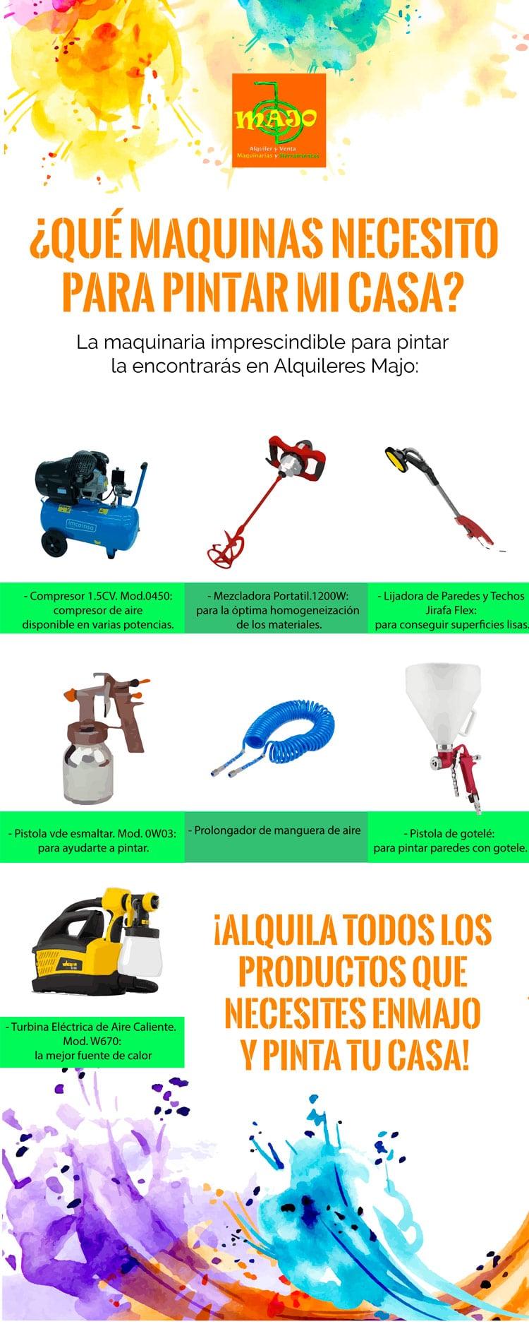 Alquiler de herramientas en Madrid Majo - Alquila las herramientas para pintar tu casa idóneas