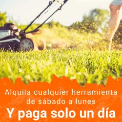 empresa de alquiler de maquinaria de jardinería en Madrid